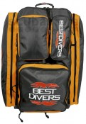 Best Divers Big Orange Wheeled Knapsack
