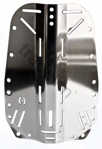 Platina trasera de acero inoxidable hollis placas buceo - Placa acero inoxidable ...